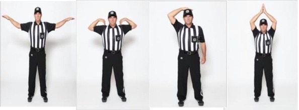 CFL referee hand signals