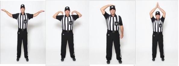 CFL referee hand signals