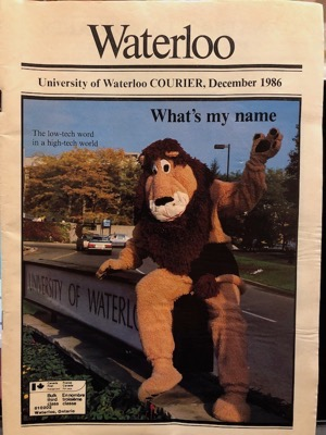 UW Courier Cover December 1986