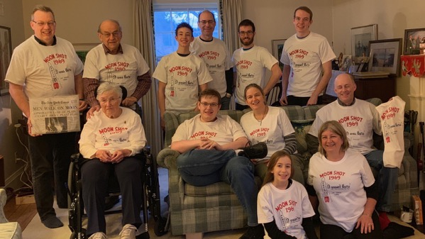 The family in our new shirts
