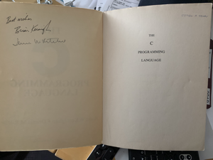 Autographed copy of The C Programming Language