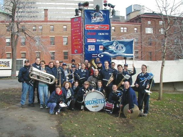 Argonotes at the 2001 Grey Cup