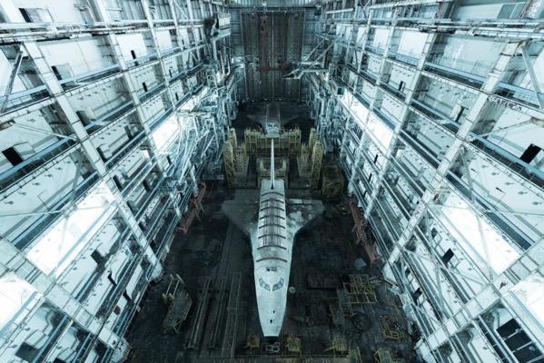 Abandoned Buran shuttles